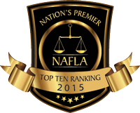National Academy of Family Law Attorneys Top Ten Rankings from 2015 Badge
